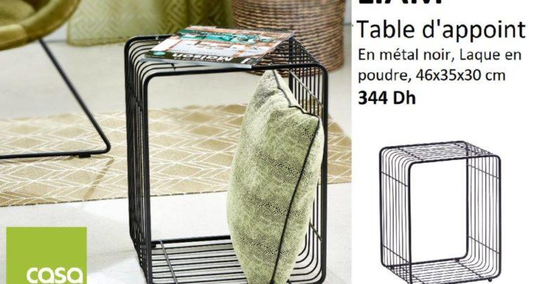 Photo of Nouveau chez casa Maroc Table d'appoint en métal noir 344Dhs