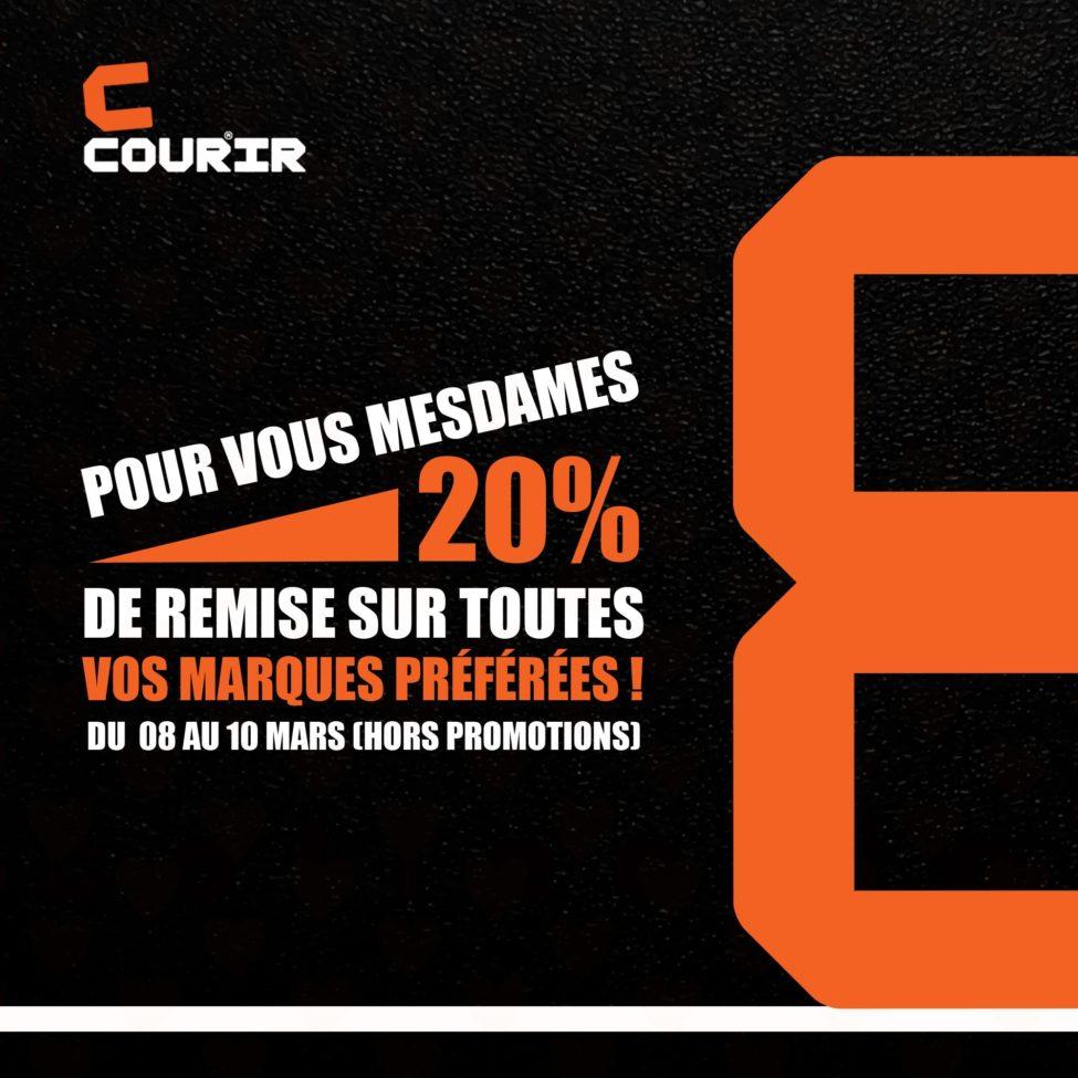 Promo Courir Maroc Woman Days 20% Jusqu'au 10 Mars 2019