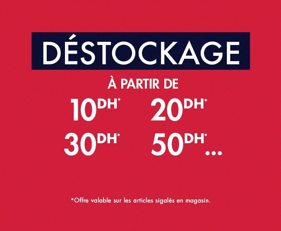 Déstockage Kiabi Maroc du 1 au 12 Mars 2019