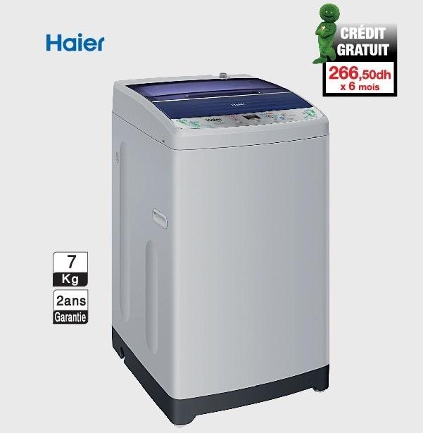 Soldes Aswak Assalam Machine à laver HAIER 1590Dhs au lieu de 1799Dh