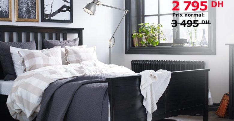 Photo of Soldes Ikea Maroc Cadre de lit HEMNES + Sommeir Luröy 2795Dhs au lieu de 3495Dhs