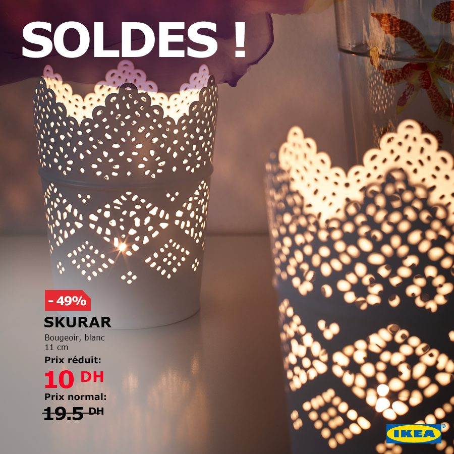 Soldes Ikea Maroc Spéciale bougies et bougeoirs