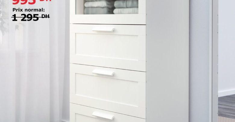 Photo of Soldes Ikea Maroc Commode 4 tiroirs BRIMNES 995Dhs au lieu de 1295Dhs