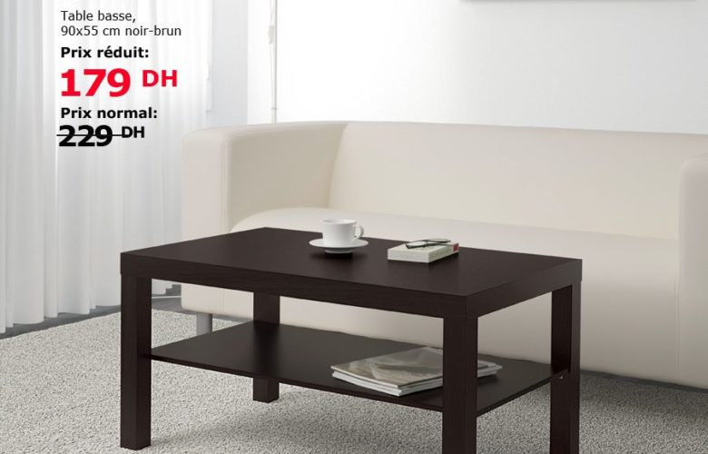 Soldes Ikea Maroc Table basse LACK 179Dhs au lieu de 229Dhs