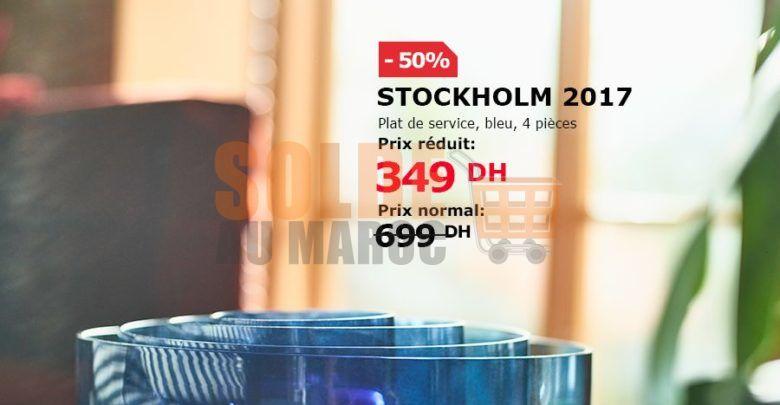 Photo of Soldes Ikea Maroc Set de service 4 pièces STOCKHOLM 349Dhs au lieu de 699Dhs