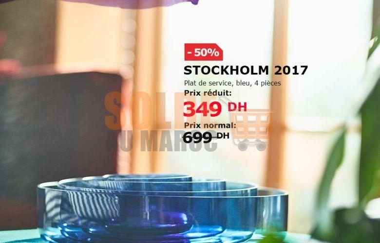 Soldes Ikea Maroc Set de service 4 pièce STOCKHOLM 349Dhs au lieu de 699Dhs
