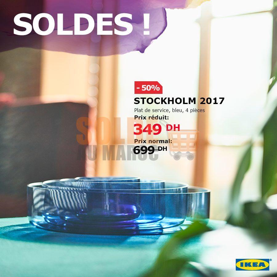 Soldes Ikea Maroc Set de service 4 pièces STOCKHOLM 349Dhs au lieu de 699Dhs