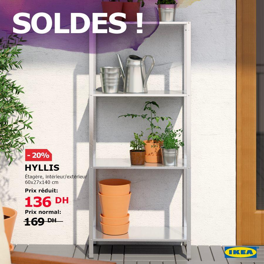 Soldes Ikea Maroc Étagère intérieur / extérieur HYLLIS 136Dhs au lieu de 169Dhs
