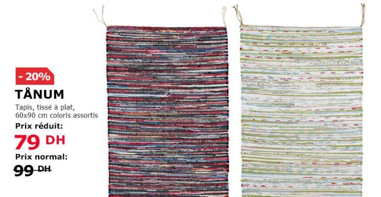 Photo of Soldes Ikea Maroc Tapis TÅNUM tissé à plat coloris assortis 79 Dhs au lieu de 99Dhs