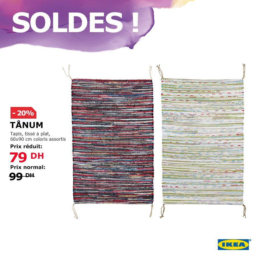 Soldes Ikea Maroc Tapis TÅNUM tissé à plat coloris assortis 79 Dhs au lieu de 99Dhs
