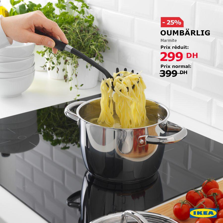 Soldes Ikea Maroc Marmite OUMBARLIG 299Dhs au lieu de 399Dhs