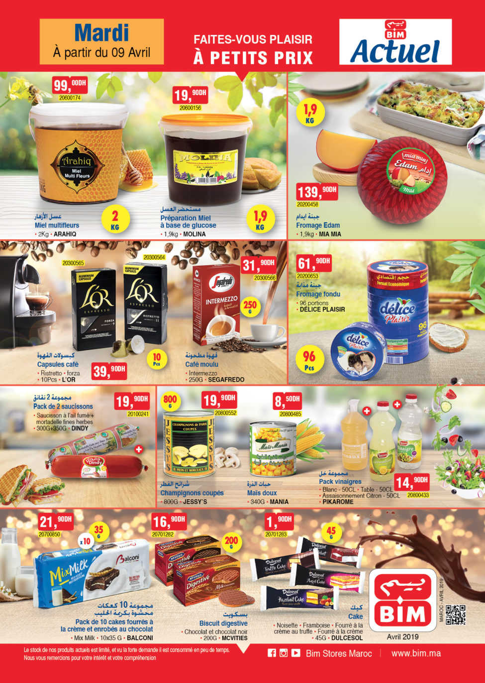 Catalogue Bim Maroc Spéciale Alimentation du Mardi 9 Avril 2019