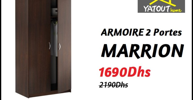 Photo of Soldes Yatout Home ARMOIRE 2 Portes MARRION 1690Dhs au lieu de 2190Dhs