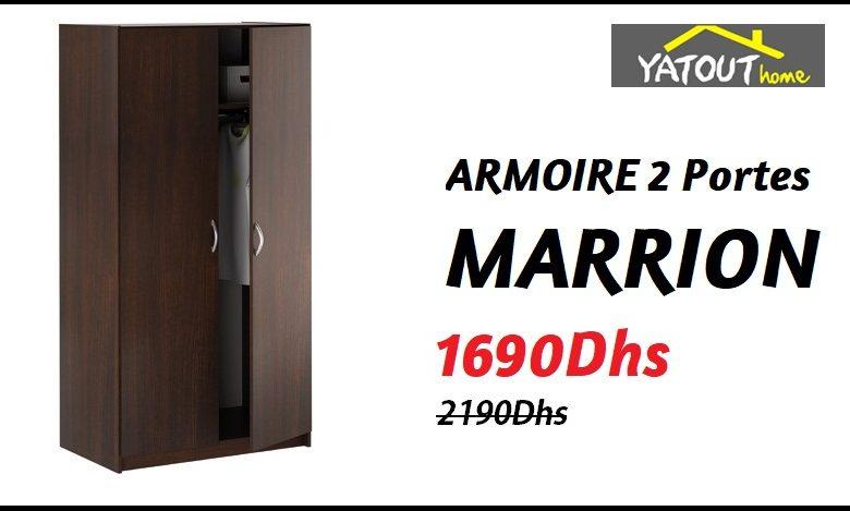 Soldes Yatout Home ARMOIRE 2 Portes MARRION 1690Dhs au lieu de 2190Dhs