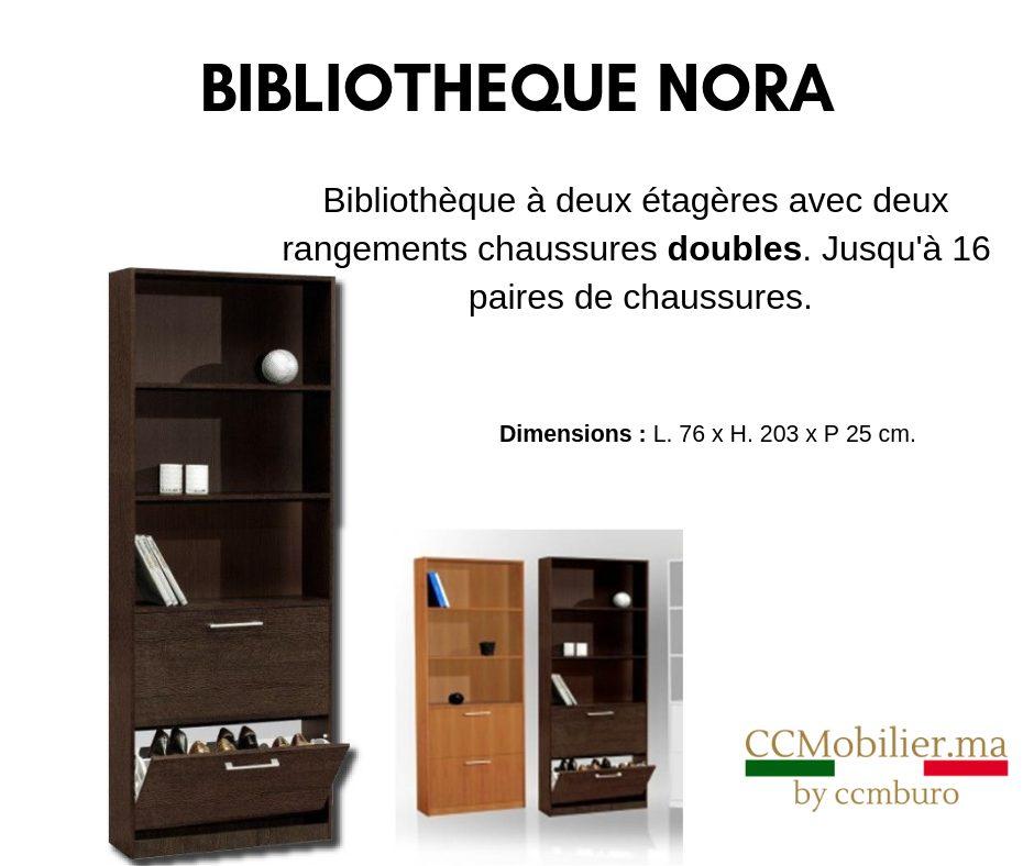 Promo CCMBuro Bibliothèque NORA 890Dhs au lieu de 2390Dhs