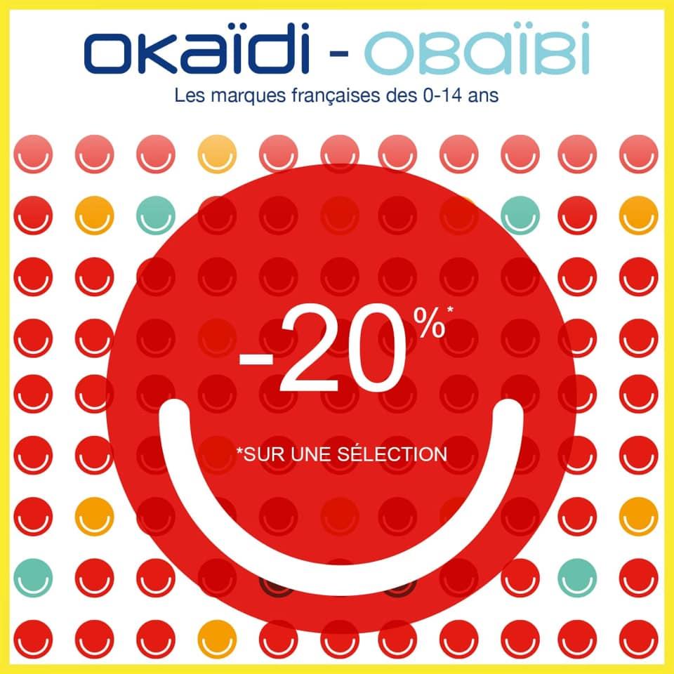 Soldes mi-saison Okaidi -20% dans les magasins du 29 Mars au 7 Avril 2019