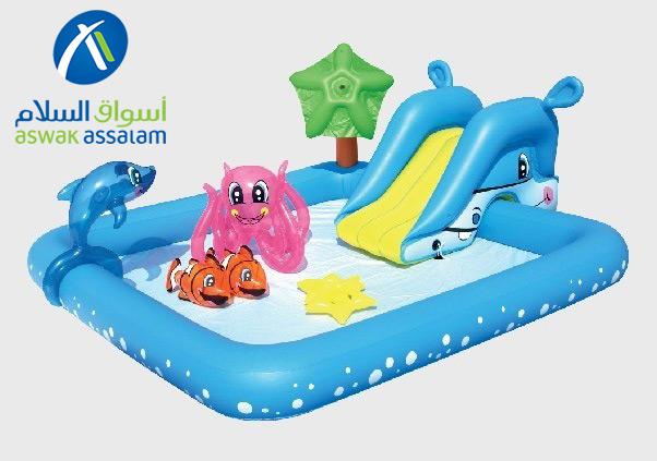 Soldes Aswak Assalam Parc toboggan aquarium gonflable 299Dhs au lieu de 389Dhs