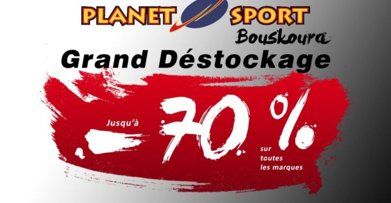 Photo of Grand Déstockage Planet Sport Bouskoura Jusqu'à -70% du 15 au 20 Mars 2019