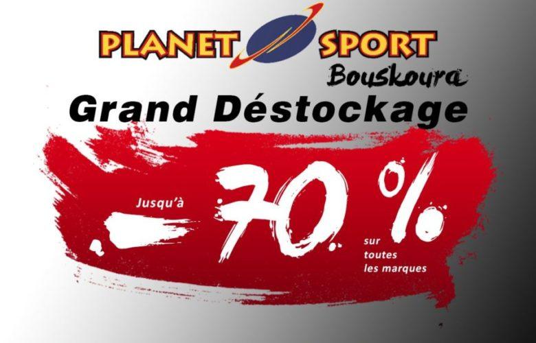 Grand Déstockage Planet Sport Jusqu'à -70% sur toutes les marques du 15 au 20 Mars 2019