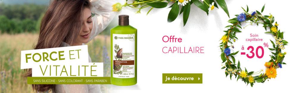 Promo Mars 2019 Yves Rocher Maroc -30% Soin capillaire