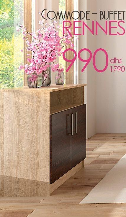 Soldes Azura Home Commode RENNES 990Dhs au lieu de 1790Dhs