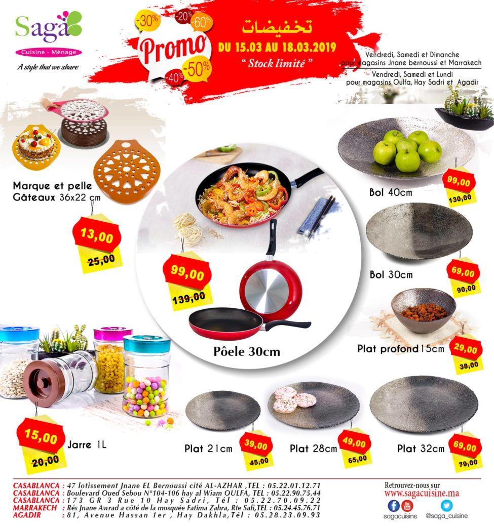 Catalogue Saga Cuisine Stock Limité du 15 au 18 Mars 2019