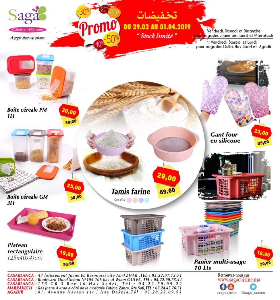 Catalogue Saga Cuisine Differ Promo du 29 Mars au 1 Avril 2019