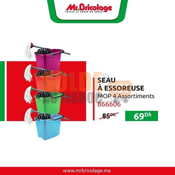 Promo Mr Bricolage Maroc Seau à Essoreuse 69Dhs au lieu de 85Dhs