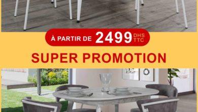 Super Promo Electro Bousfiha Table à manger + 6 chaises à partir de 2499Dhs