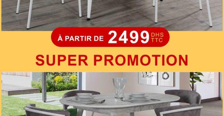 Photo of Super Promo Electro Bousfiha Table à manger + 6 chaises à partir de 2499Dhs