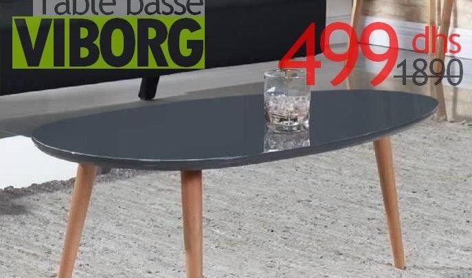 Soldes Azura Home Table basse scandinave VIBORG 499Dhs au lieu de 1890Dhs