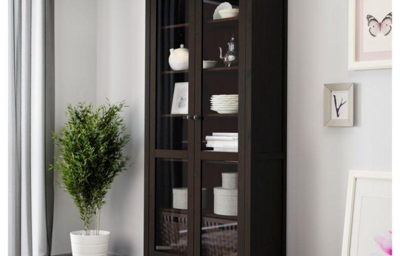 Soldes Ikea Maroc Vitrine HEMNES noir-brun 2695Dhs au lieu de 3795Dhs