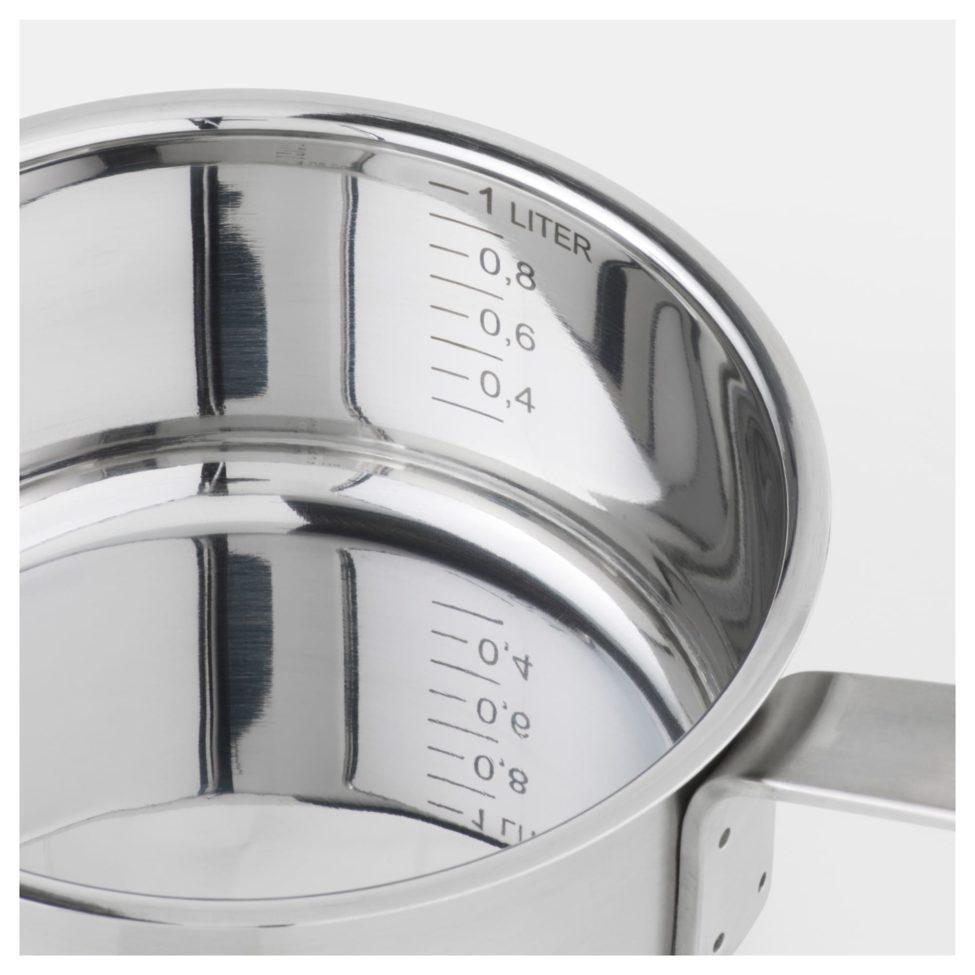 Soldes Ikea Maroc Casserole avec couvercle acier inoxydable verre 139Dhs au lieu de 299Dhs