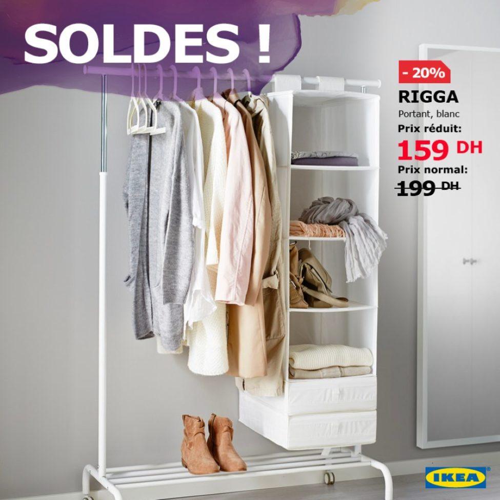 Soldes Ikea Maroc Portant RIGGA blanc 159Dhs au lieu de 199Dhs