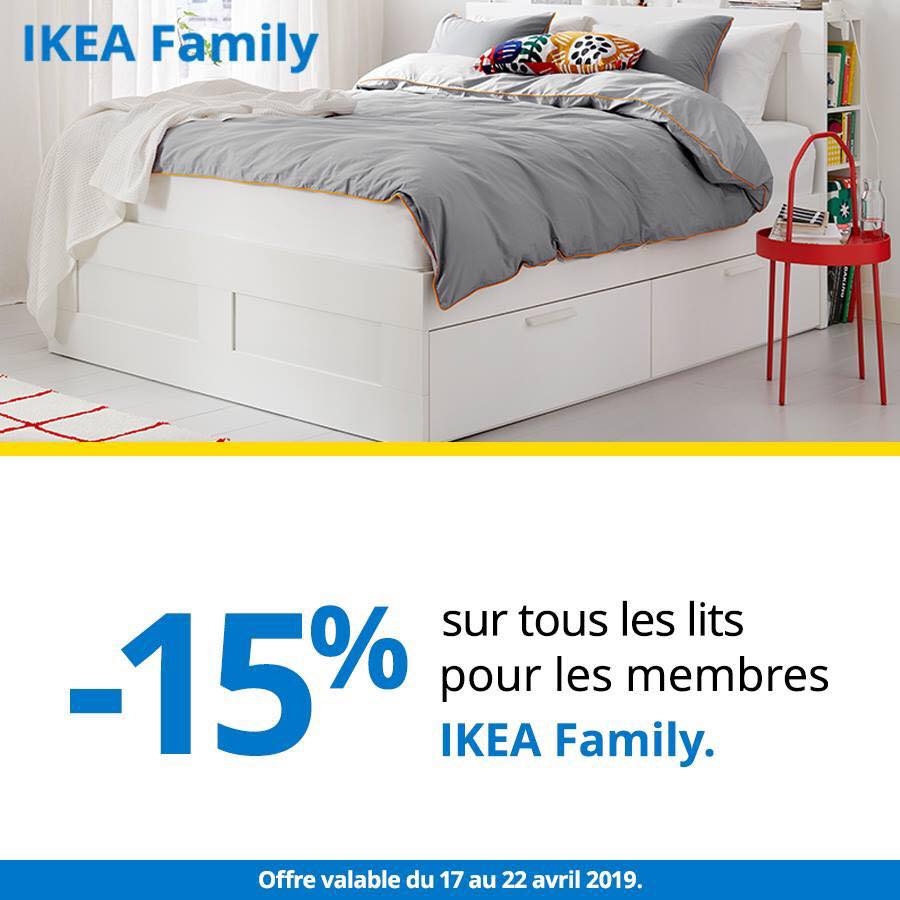 Super Offre Ikea Family -15% sur tous les lits du 17 au 22 Avril 2019