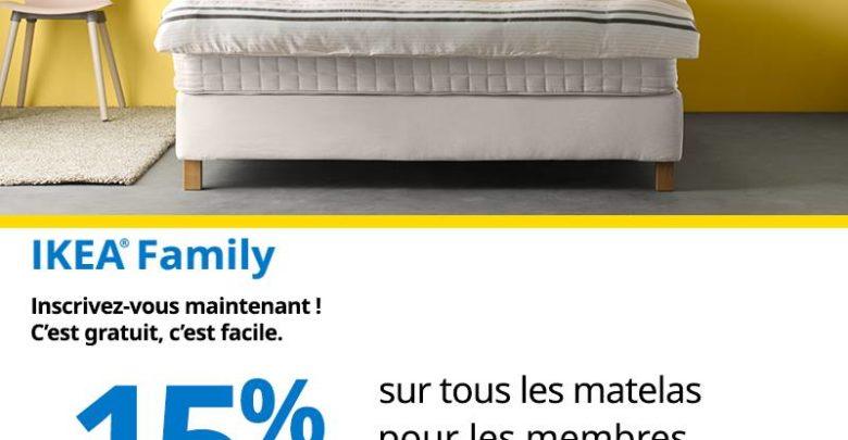 Photo of Promo Ikea Family -15% réduction Matelas du 24 au 30 Avril 2019