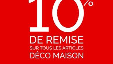 Offre Spéciale d'ouverture Déco Maison Virgin Megastore Maroc -10% sur tous le magasin