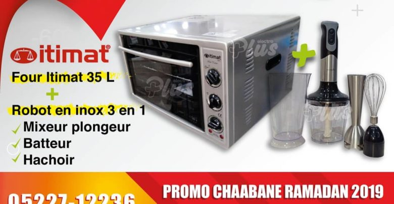 Photo of Promo Electroplus Four Itimat 35L + Robot inox 3en1 599Dhs
