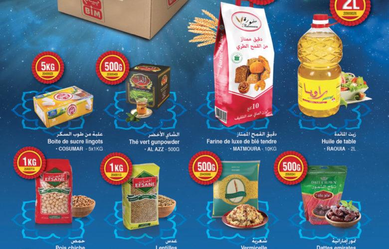 Super Offre Bim Maroc Panier Ramadan Avril 2019 à 236Dhs