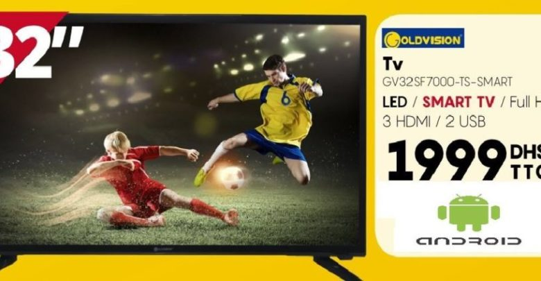 Photo of Promo Abroun Electro Smart TV GOLDVISION 32° Full HD 1999Dhs