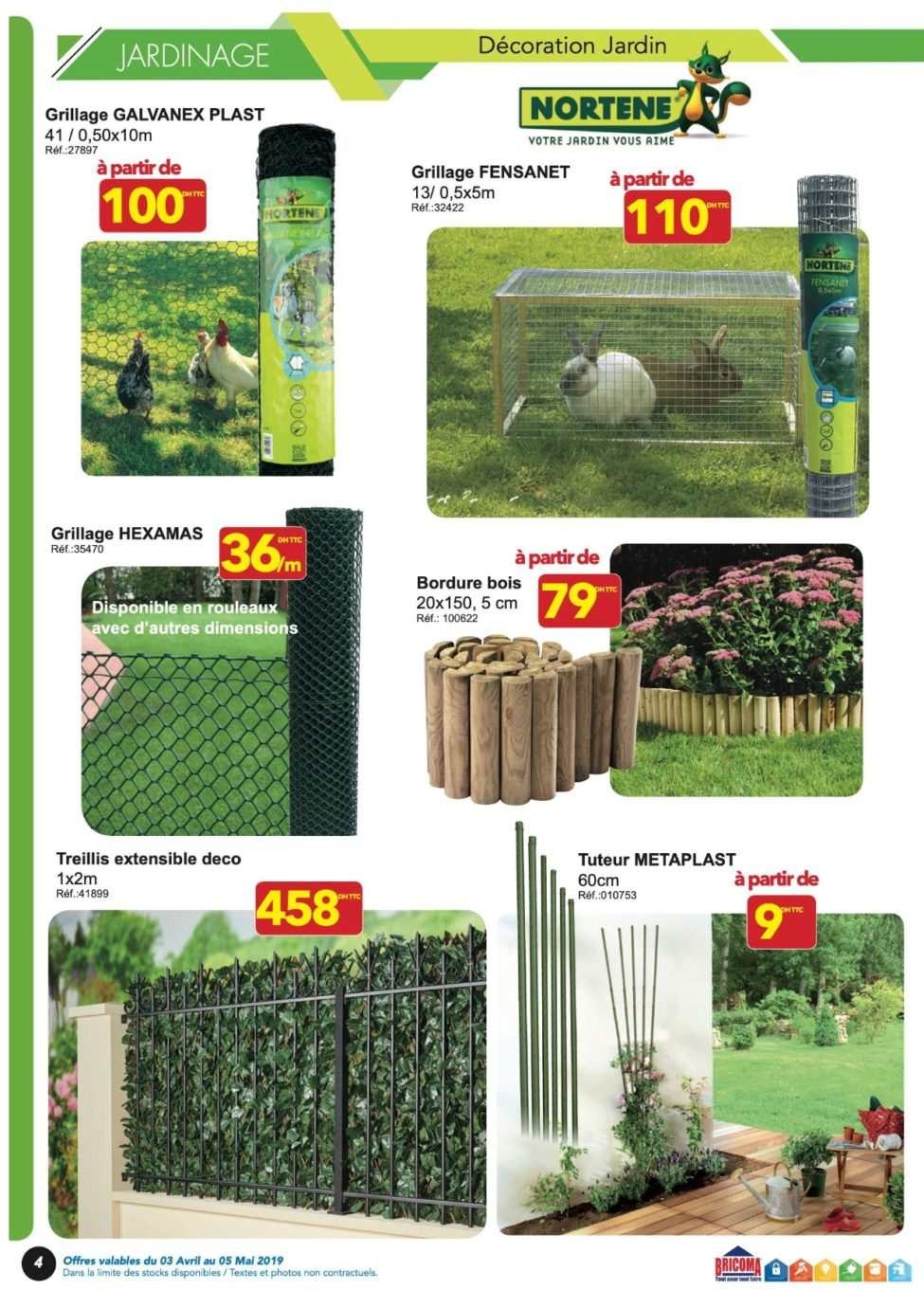 Catalogue Bricoma Les beaux Jours les belle offres du 3 Avril au 5 Mai 2019