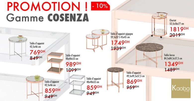 Photo of Flyer Kaoba Ameublement Collection de Table Gamme COSENZA