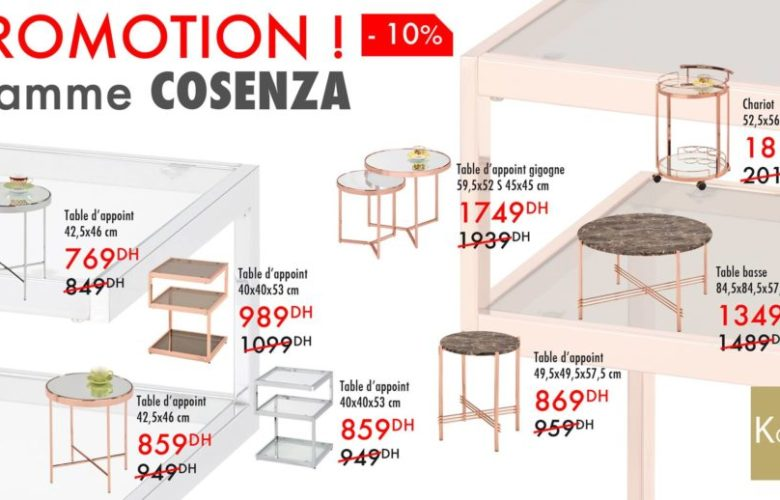 Flyer Kaoba Ameublement Collection de Table Gamme COSENZA
