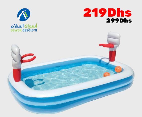 Soldes Aswak Assalam PARC PISCINE BASKET BALL 219Dhs au lieu de 299Dhs