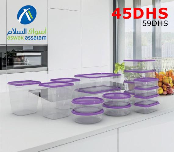 Soldes Aswak Assalam Lot 17 Boîtes de Conservation 14L au Total 45Dhs au lieu de 59Dhs