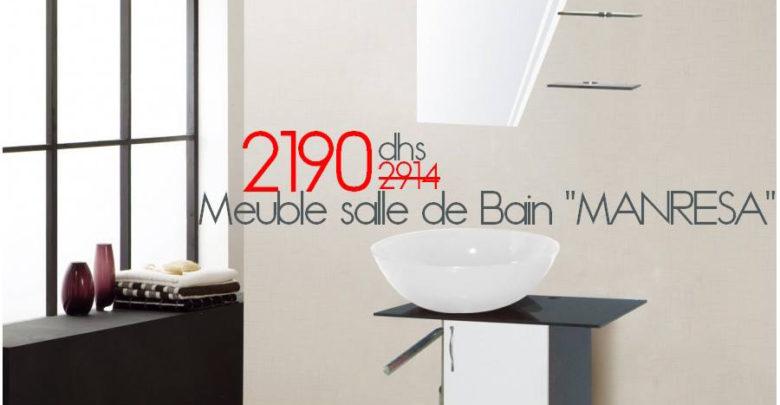 Photo of Soldes Azura Home Meuble salle de bain MANRESA en blanc 2190Dhs au lieu de 2914Dhs