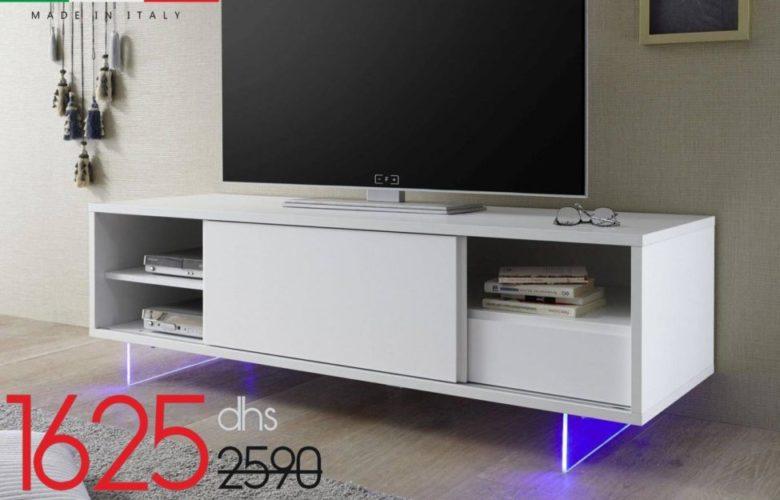 Soldes Azura Home Meuble TV MELINIA 156cm 1625Dhs au lieu de 2325Dhs
