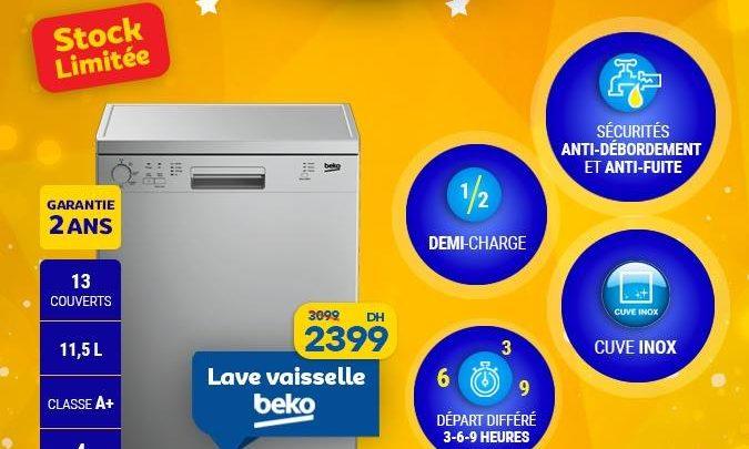 Photo of Soldes Marjane Lave-vaisselle BEKO 13 Couverts 2399Dhs au lieu de 3099Dhs