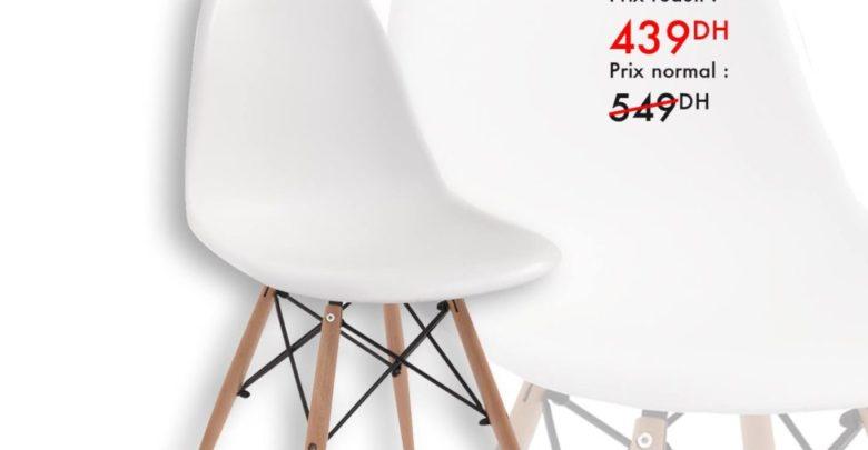 Photo of Promo Kaoba Ameublement Chaise BREME confort au millimètre 439Dhs au lieu de 549Dhs