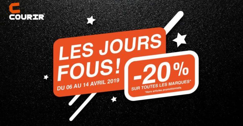 Photo of JOURS FOUS Courir Maroc 20% de remise du 6 au 14 Avril 2019